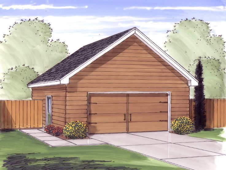 Two Car Garage Plan, 050G0059 Garage plan, Garage plans