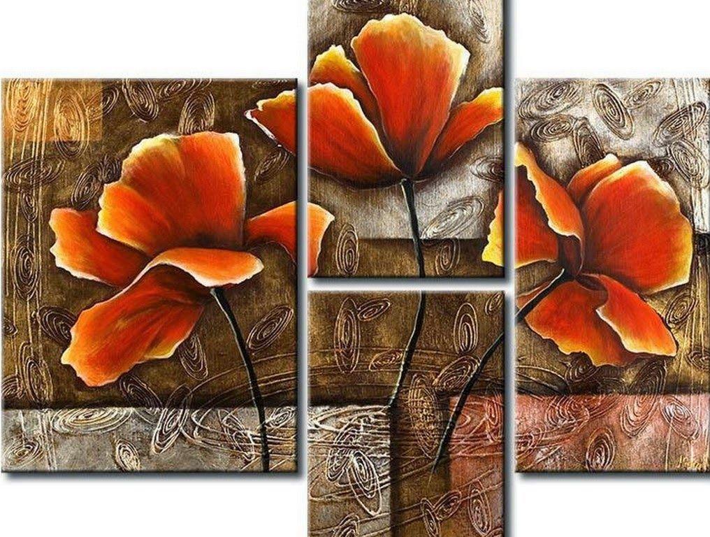 Cuadros de flores modernos tripticos arte floral for Cuadros tripticos online