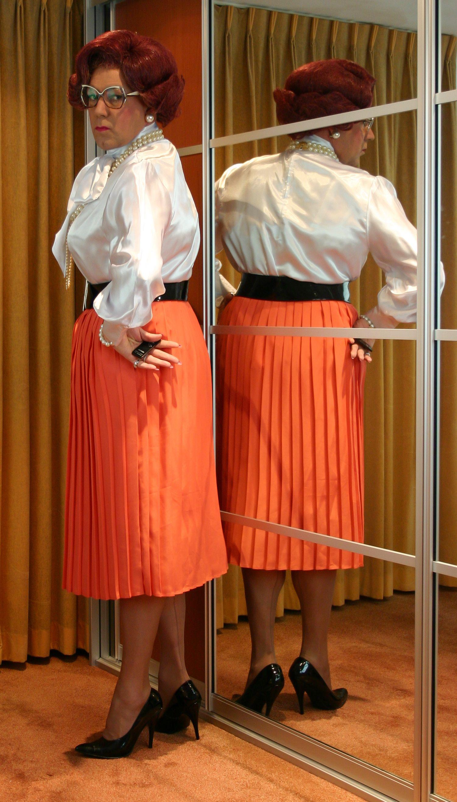 eeaa0b1f43e977 Mrs Wanda Nylon   Pleated Skirts and Dresses 2
