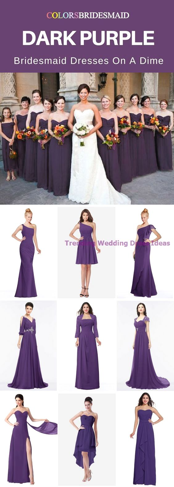 ColorsBridesmaidPurple Bridesmaid Dresses #attireforwedding