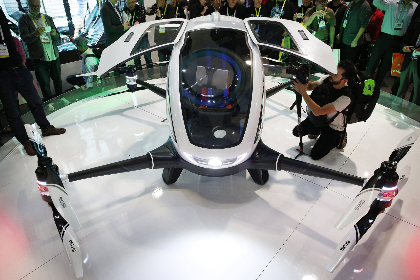 Worlds first passenger drone unveiled by Ehang at CES