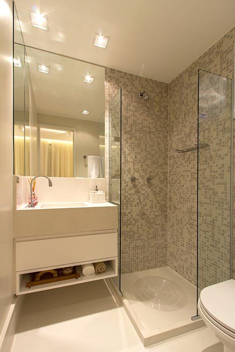 Banheiro da suite do apartamento de 3 dormitórios do HomeClub