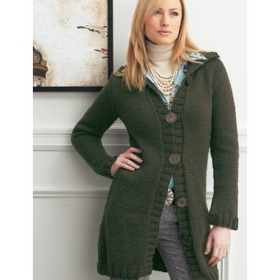 Long Cardigan With Flared Sleeves Knitting Patterns Patterns