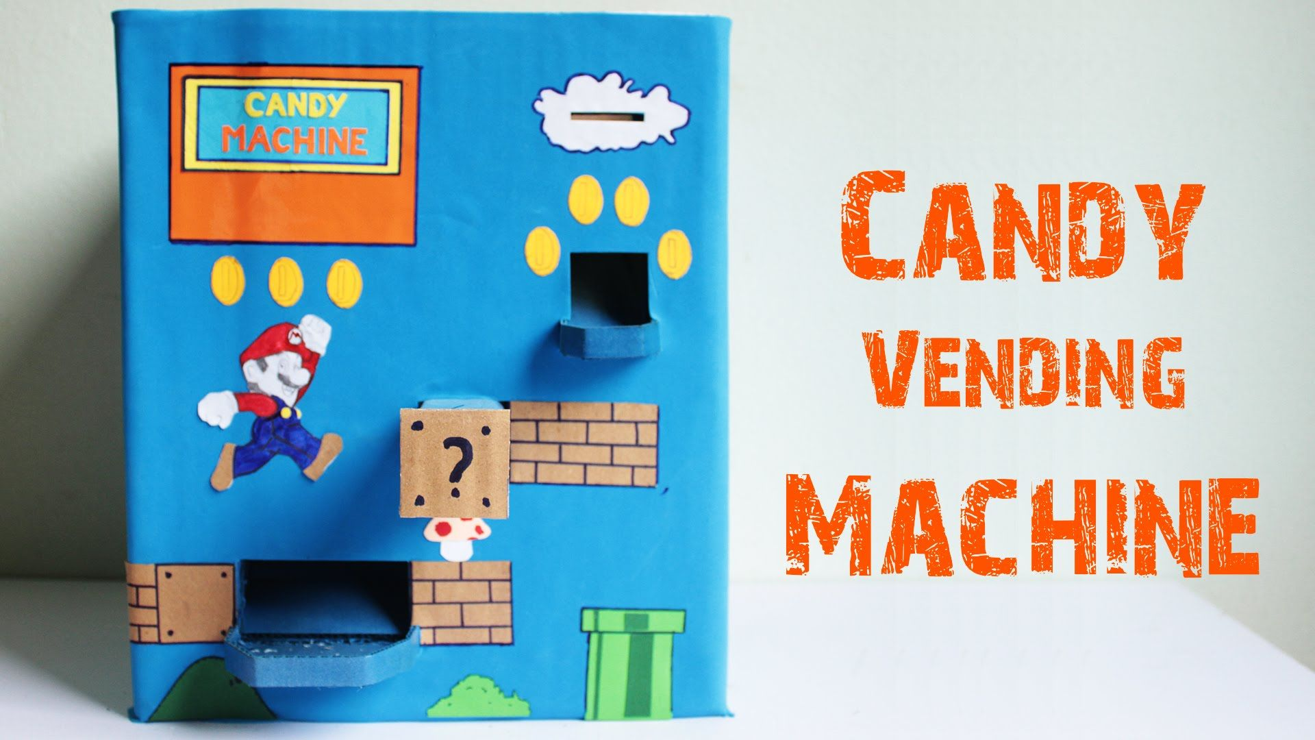 How to make a candy vending machine using cardboard at
