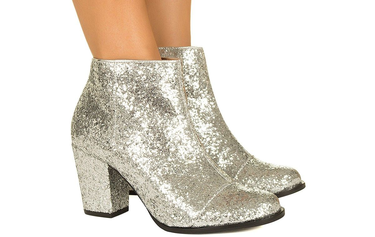 fc425abb14 Bota de glitter prata Taquilla - Taquilla - Loja online de sapatos femininos