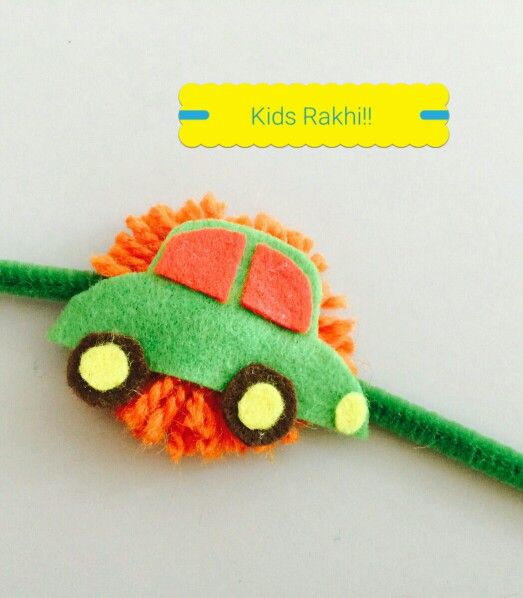 Kids Rakhi Car Boys Diy Rakshabandhan Handmade Rakhi Designs