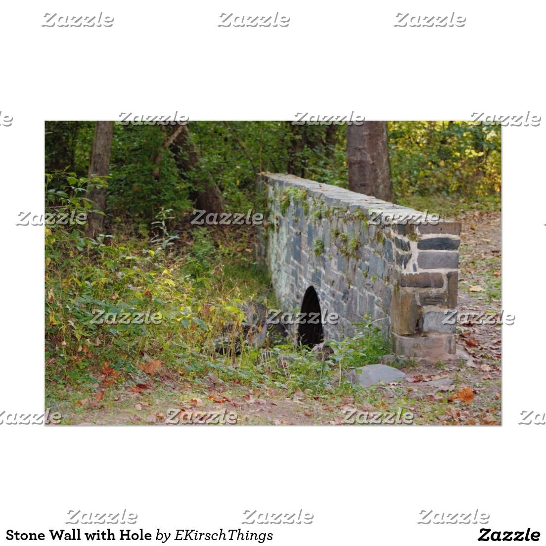 Stone Wall with Hole Poster
