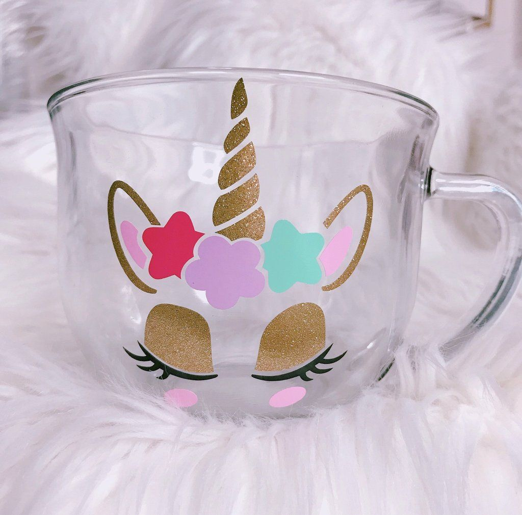 Glass Unicorn coffee mug