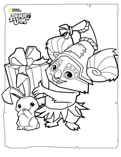 Animal Jam Coloring Pages | The Daily Explorer | Classroom ...