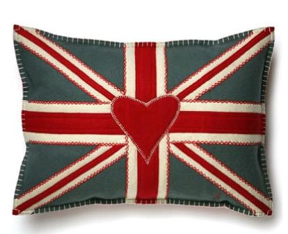 I heart this Union Jack pillow