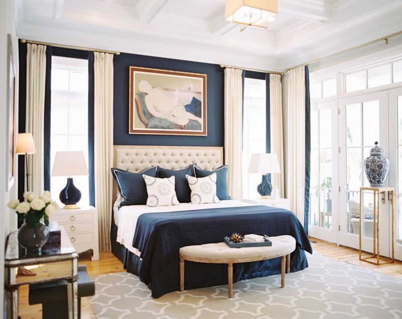 Best 20 Beautiful Bedroom Designs With Gold And Navy Accents 640 x 480