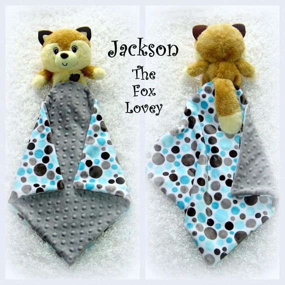 Jackson the fox lovey by lovablekreations minky fleece fabrics jackson the fox lovey by lovablekreations minky fleece security blanket with attached fox toy personalized unique baby gift aka lovie negle Choice Image