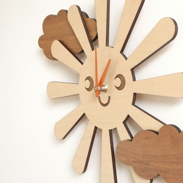 wanduhr sonne design lustig wolke Interieur Pinterest Babies