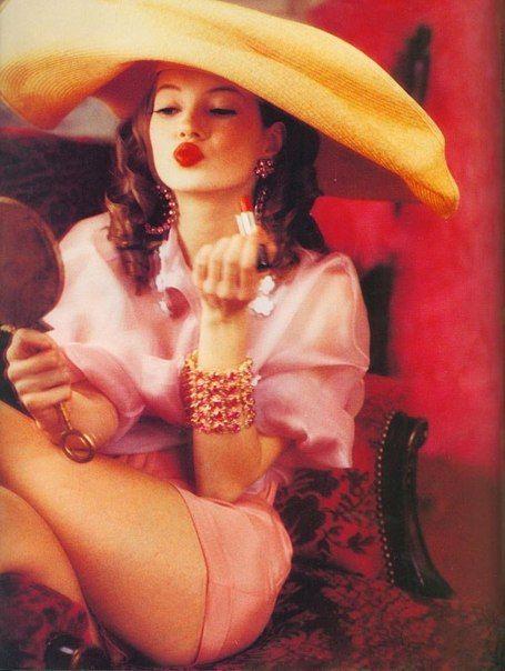 """Charming Lolita"" | Model: Kate Moss | Photograph by Ellen von Unwerth | Vogue Italia | April 1992"
