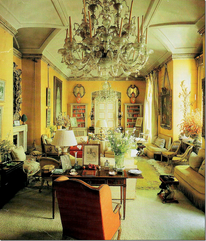 One Of The More Famous Interiors Yellow Drawing Room By Nancy Lancaster And John Fowler Features Both English French Antiques In This Delightful