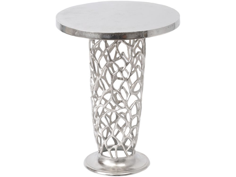 Modern Pedestal   Google Search · Pedestal Side TableMetal Side TableRound  ...