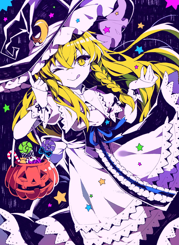 halloween marisa 魔理沙 イラスト 東方 かわいい イラスト