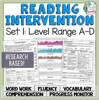 Reading Intervention Program Reading Passages Comprehension