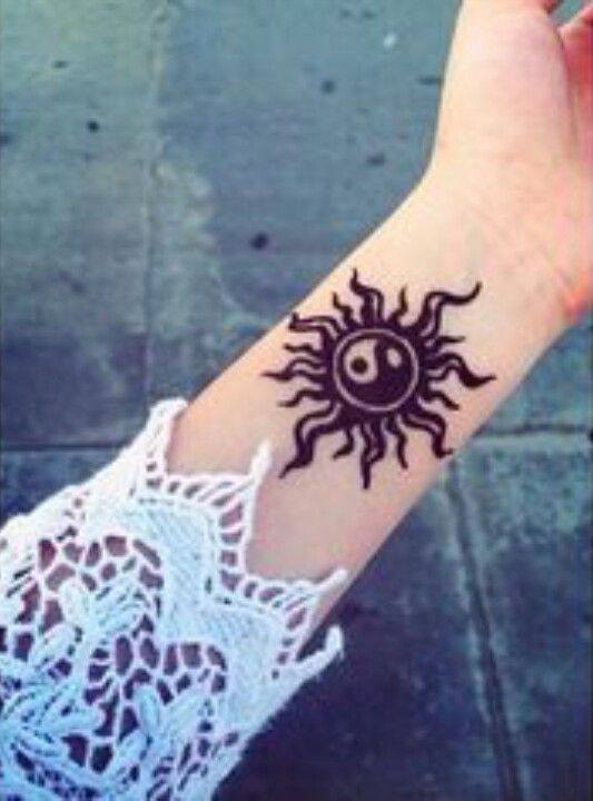 Yin Yang Sun Design Sierra Sahara Sera Tattoos Henna Henna