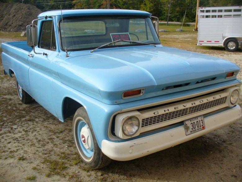 Old Trucks For Sale Front Right Blue 1966 Chevrolet K10 Pickup