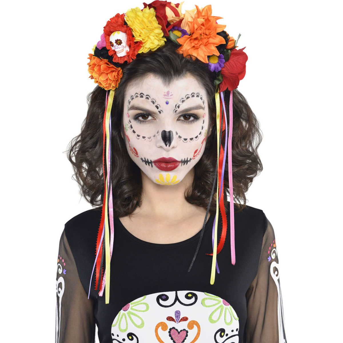 day of the dead half mask size one size big w