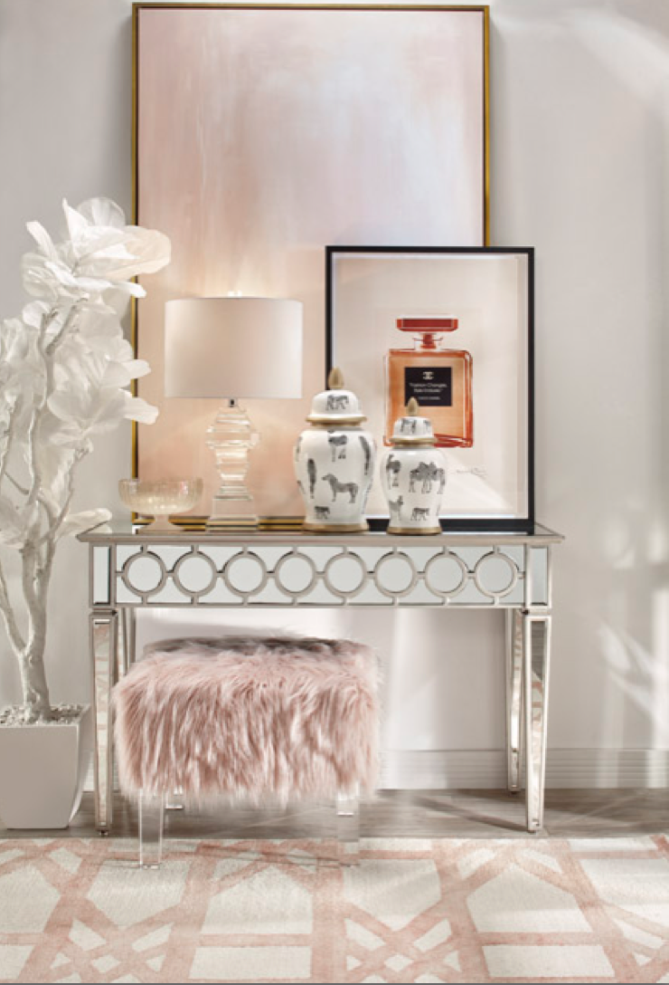 Entryway Vignette Home Decor Modern Glam Decor Decor