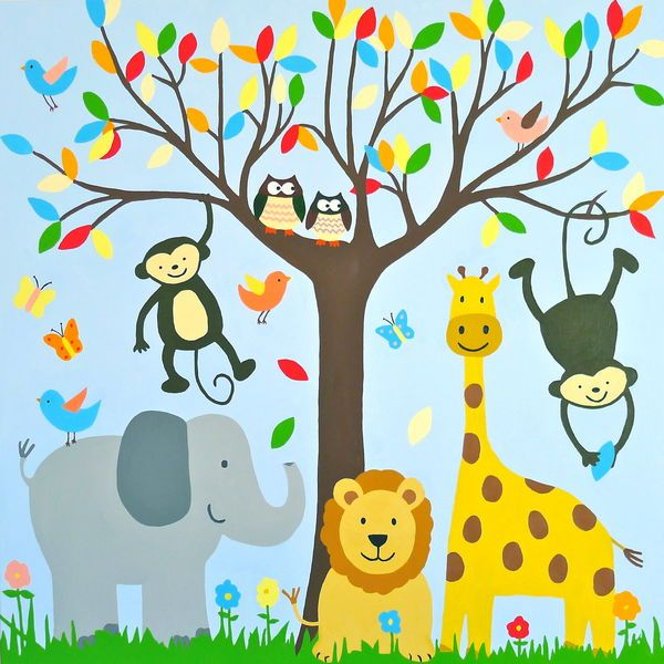 kids canvas ideas google search - Animal Painting For Kids