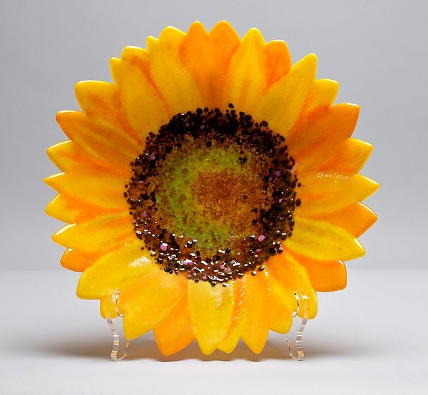 Sunflower Bowl by Anne Nye (Art Glass Bowl | Nye, Sunflowers and Bowls