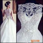 2015 New White/Ivory Wedding Dress Bridal Gown Custom Size 6 8 10 12 14 16 18 ++