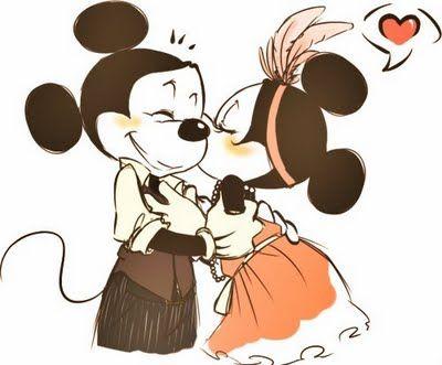 Una Hermosa Imagen de Un Amor Eterno  MickeyMinnie