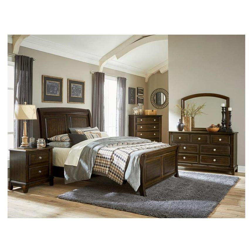 Samantha 4 Piece King Bedroom Set Sleigh Bedroom Set King