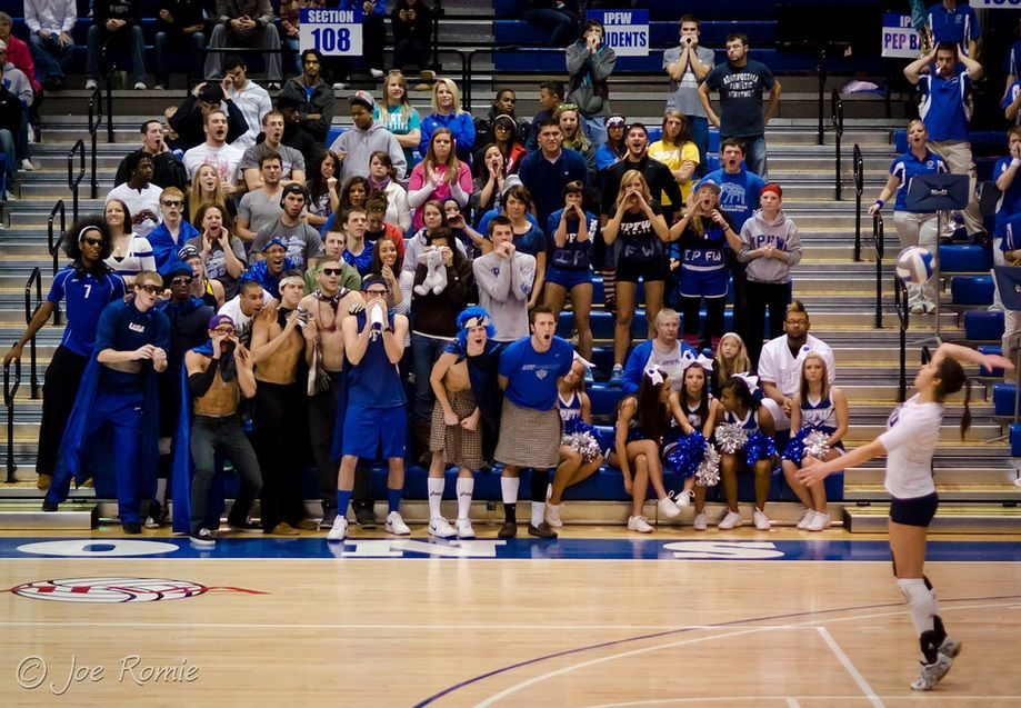 IPFW women's volleyball distracting fans Sport event