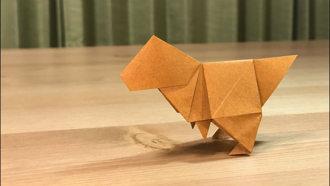 Photo of Origami Dinosaurier / Tyrannosaurus / Micas Papierhandwerkskanäle