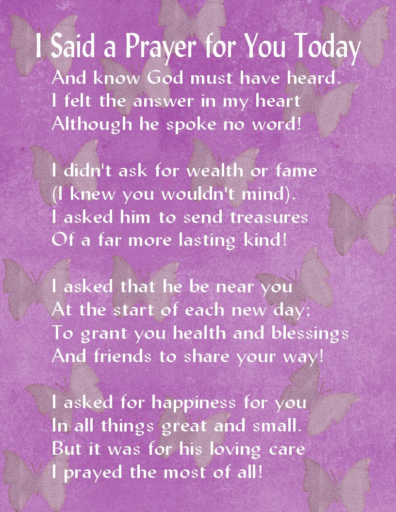 image regarding I Said a Prayer for You Today Printable referred to as KY Yessica Morquechocooper (thecoopzs) upon Pinterest