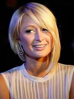 Asymmetrical bob - Paris Hilton