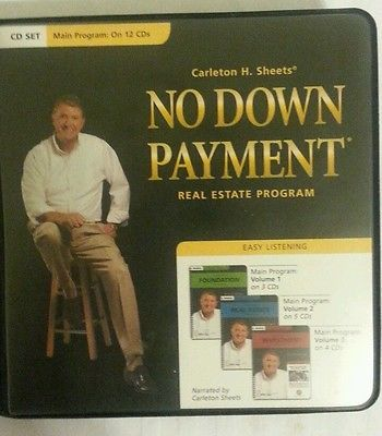 Carleton Sheets NO DOWN PAYMENT Real Estate Course AUDIO