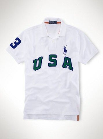 2013 ralph lauren US Big Pony Polo shirts White