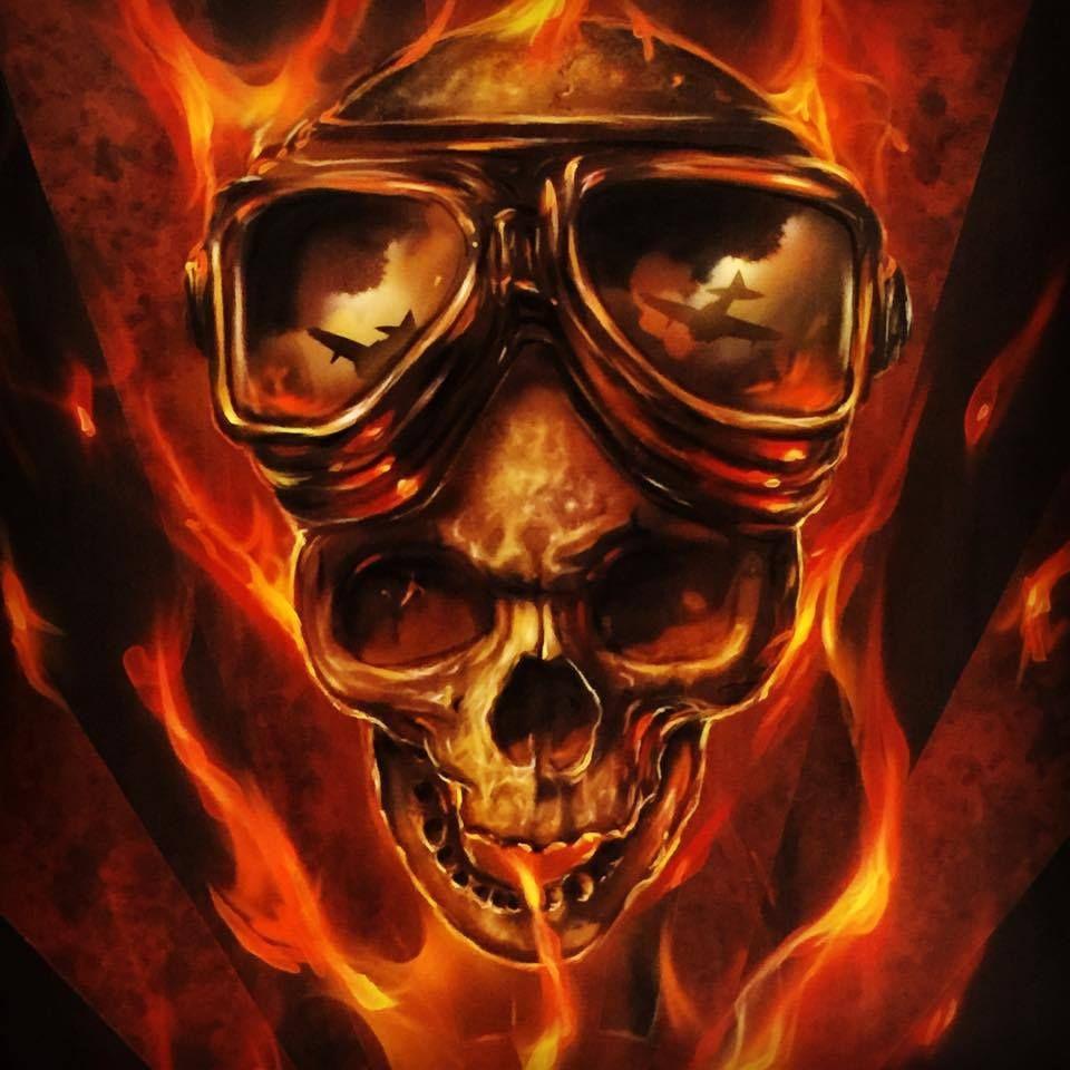 Skull Airbrush Painting