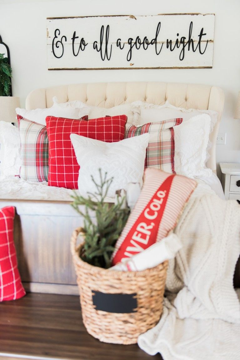our plaid christmas bedroom 2016 | plaid bedding, christmas