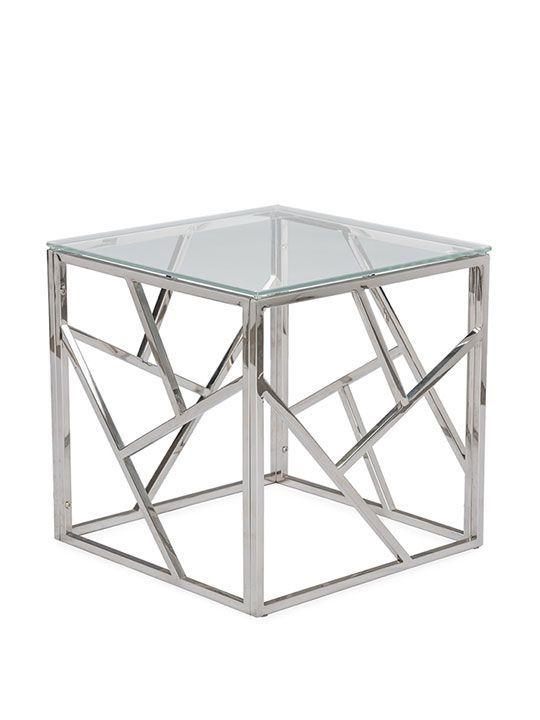 Aero Chrome Glass Side Table | Modern Furniture U2022 Brickell Collection