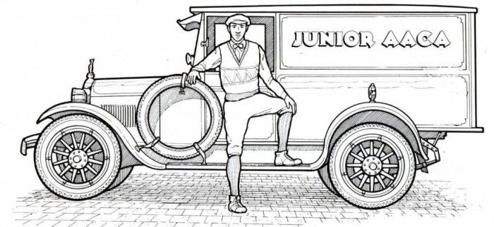 1925 Dodge Classic Old Car Coloring Pages