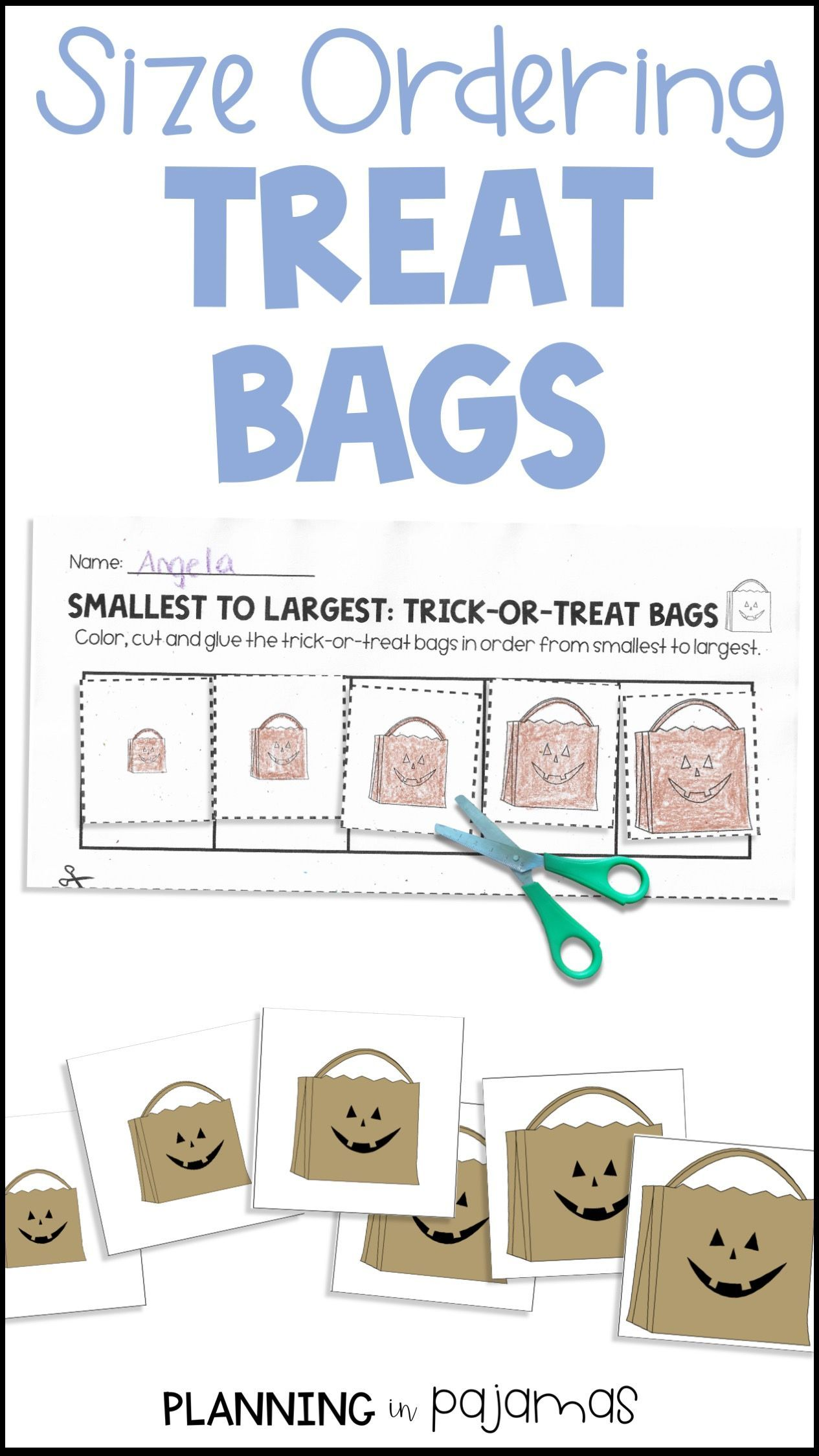 Halloween Treat Bags Size Ordering From Smallest To