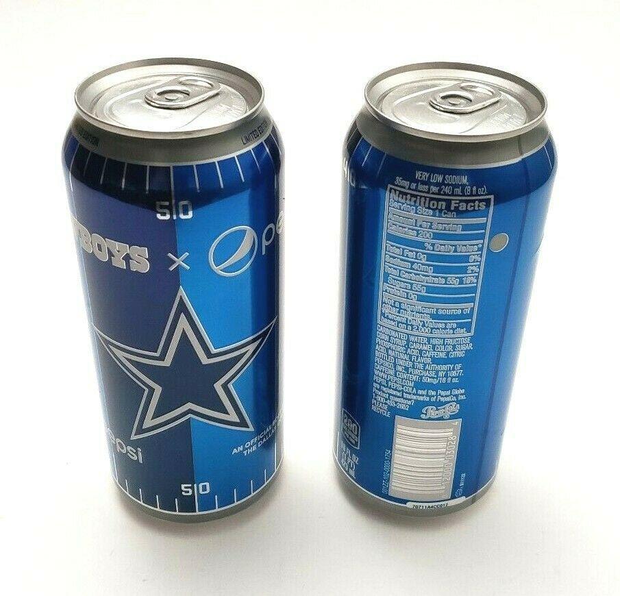 Dallas Cowboys Pepsi 16 oz 2018 Limited Edition Aluminum