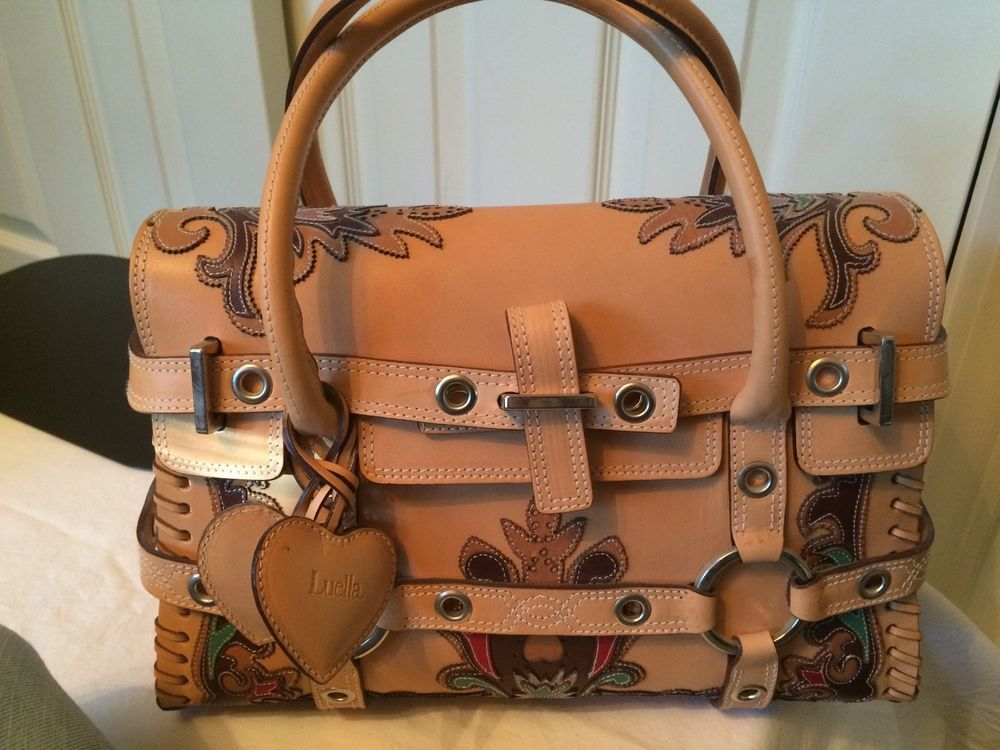 4e28992f96cb LUELLA BARTLEY Gisele Western Beige Multi Leather Bag Limited Edition Purse   LuellaBartley  Satchel