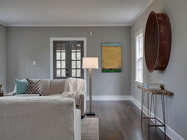 Room Painted In Glidden Faded Denim