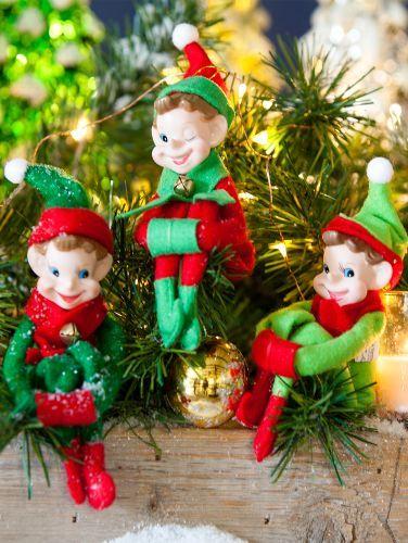 Classic Christmas Elves Set of 3 | Christmas elf, Vintage ...