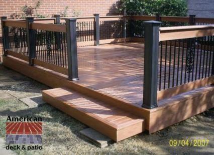 Backyard Deck Designs Ground Level Railings 62 Trendy ...