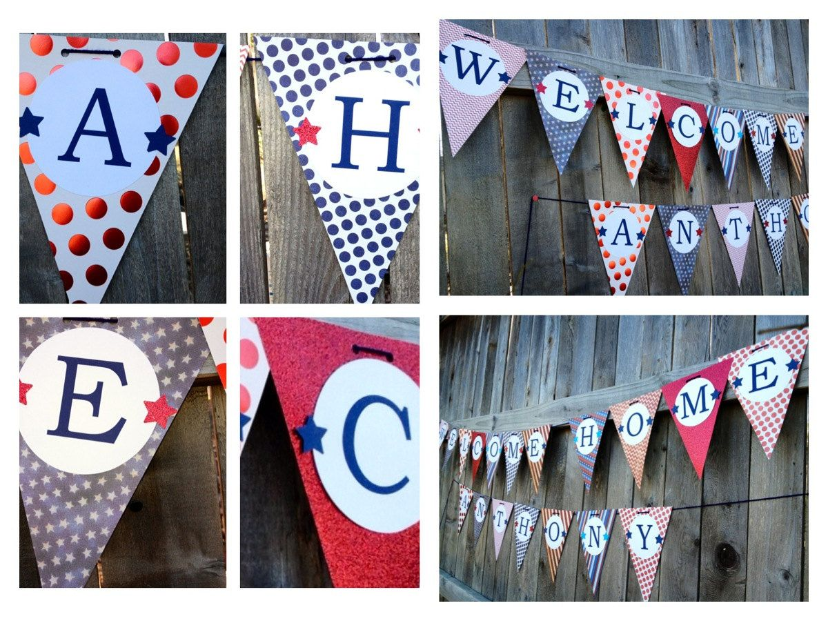 Welcome Home Banner Deployment Pinterest Banners Red White