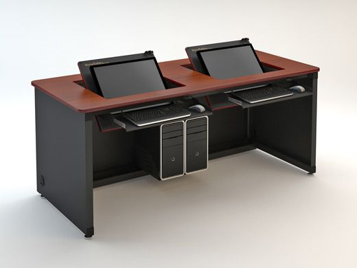 Labstar Desk Language Laboratory Pinterest Language Desks - Desks incorporate recessed computer technology