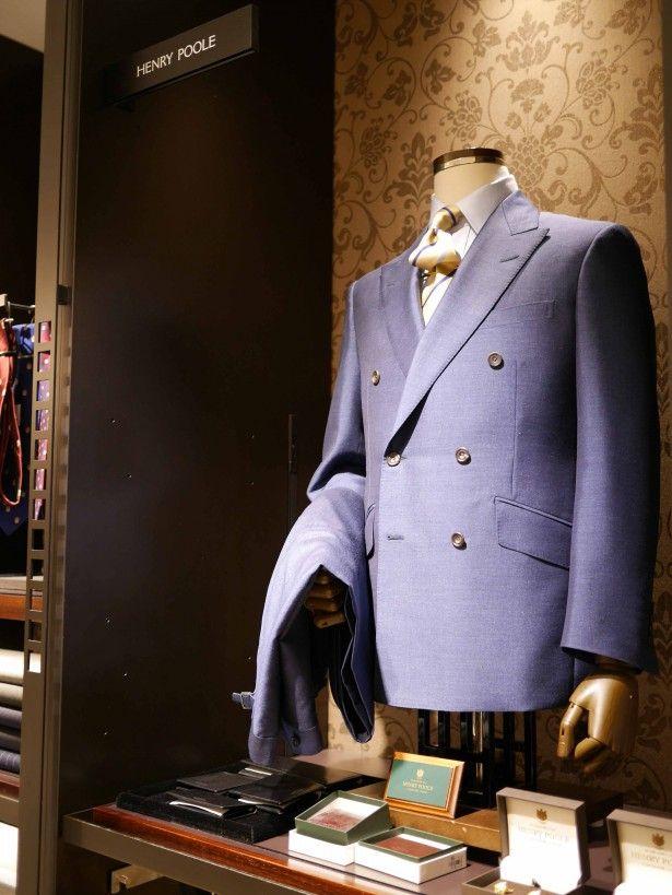 blue double suit